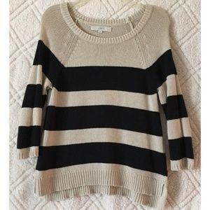 LOFT Striped Sweater Beige/Black